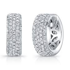 diamond huggie earrings 1 19ct micro pave diamond huggies earrings set in stunning 18k