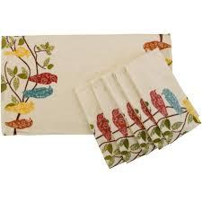 kitchen towels walmart towel better homes and gardens songbirds kitchen towel set of 6 walmart com