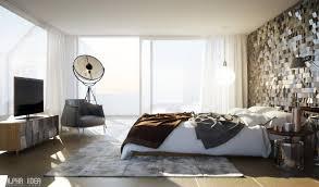 bedroom purple wall color white bookshelf white platform bed