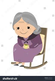 Old Man Rocking Chair Old Lady Sitting Her Rocking Chair Stock Vector 530868433