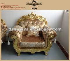 Gold Fabric Sofa Gold Leaf Furniture Sofa With Fabric And Crystal Design 3048c
