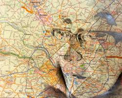 Washington Google Maps by Map Portraits Eastartroom