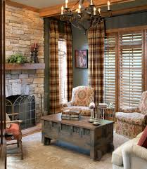 living room rustic chic living room ideas beautiful dining room innovative plaid curtainsin living room traditional regarding rustic living room curtains