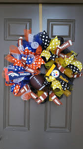steelers thanksgiving denver broncos and pittsburgh steelers mesh wreath house divided