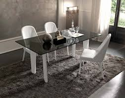 Modern Glass Wood Dining Table Furniture Dining Table Glass Top Gray Base Contemporary Joe989 B