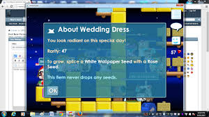 wedding dress growtopia new wedding dress recipe