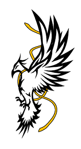 eagle tattoo clipart free tribal crow tattoo designs hanslodge clip art collection