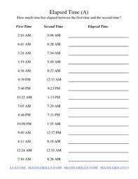 elapsed time worksheets elapsed time 2 lesson plans