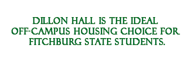 dillon hall off campus housing at fitchburg state