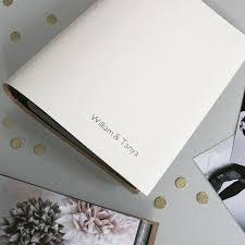 Leather Wedding Photo Album Personalised Leather Slip In Wedding Photo Album U2013 Begolden