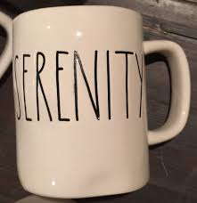 serenity rae dunn clay magenta mug tea coffee cup new ebay