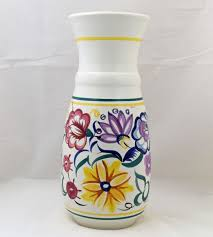 Poole Pottery Vase Patterns Pottery Tall Hand Painted Traditional Vase In The Cs Pattern