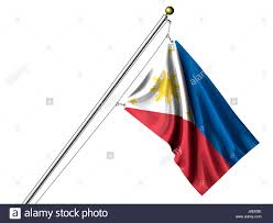Filipino Flag Colors Isolated Asia Flag Pole Asian Philippines Philippine Isolated