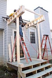 Building An Awning Over A Door Best 25 Diy Exterior Door Awning Ideas On Pinterest Front Door