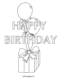 astounding appealing birthday balloons coloring pages image share