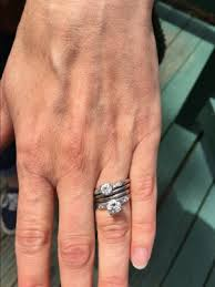 wearing two engagement rings is it a trend pricescope forum