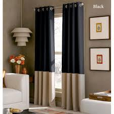 Lined Grommet Curtain Panels Kendallin Color Block Grommet Curtain Panels