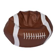 football bean bag chair matte brown ace bayou target
