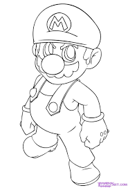 draw mario step step video game characters pop