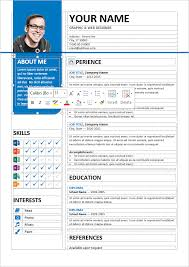 resume template for word bayview stylish resume template