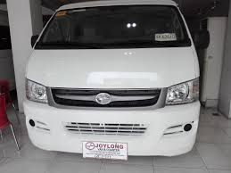 toyota van philippines joylong deluxe exclusively distributed in the philippines by