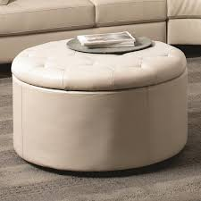round ottoman with storage elegant living room with round fabric