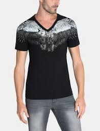 armani exchange painted wings v neck t shirt non logo for