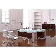 L Shaped Desk Modern White Glass Modern L Shape Desk At Boca Office Furniture