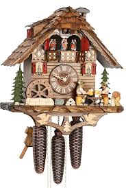 Authentic Cuckoo Clocks Cuckoo Clock 8 Day Movement Chalet Style 38cm By Hekas 3729 8 Ex