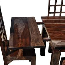 rustic furniture dining room table u0026 chair set w extension