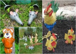 Garden Crafts Ideas Plastic Bottles Crafts Ideas To Reuse As Garden Decorations