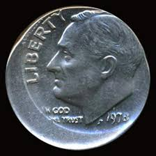 1978 dime error 1978 roosevelt dime center error gem uncirculated coi 5112