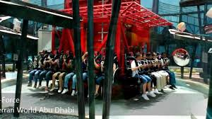 ferrari world g force ferrari world abu dhabi youtube