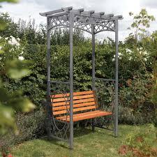 wooden metal garden arbour bench seat from westmount living