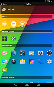 launcher goes android l with animation search bar