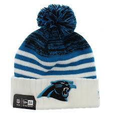 Carolina Panthers Flags Carolina Panthers The Snowfall Stripe Beanie Team Colors By New