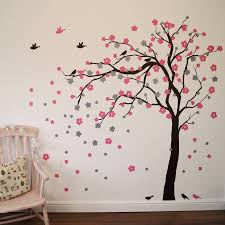 birch tree wall sticker canada cat on branch with birds wall wall stickers canada wall stickers canada download