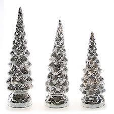youseexmas lighting up silver mercury glass tree