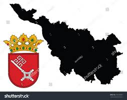 Bremen Germany Map by Middle Coat Arms Bremen City State Stock Vector 270185969
