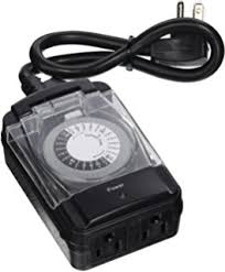 Outdoor Timer With Light Sensor - plug in weather resistant outdoor light sensing timer and plug in