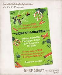 nerf wars birthday invitations tags nerf birthday party