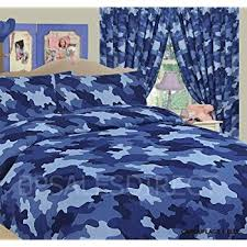 Blue Camo Bed Set Army Camouflage Single Bed Duvet Quilt Cover Bedding Set