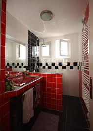 black and white and red bathroom decorating clear