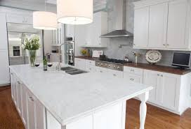 Granite Countertop  Cleaning White Cabinets Linear Mosaic Tile - Backsplash ideas for white cabinets and granite countertops