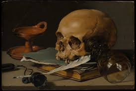 file pieter claesz still with a skull and a writing quill jpg