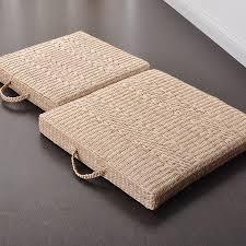 40cm 50cm japanese style seat cushion square straw futon tatami