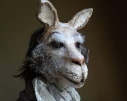 paper mache bunnies bunny mask rabbit paper mache rabbit mask hare mask