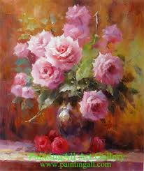 Flower Vase Painting Ideas Painting Flower Vase Famous Flower Paintings Floral Still Life