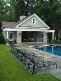 another pool house idea basically a shaded in seating area