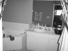 gray and white bathroom myhousespot com